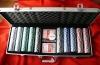Покер чипове в алуминиеви куфарчета - 200,300,500 Налични! Ролетка с шотове!