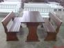 Изработка на дървени маси и пейки за заведения по поръчка.