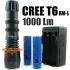 КОМПЛЕКТ Супер мощен ВОДОУСТОЙЧИВ джобен фенер/прожектор - 1000 Lumens CREE XM-L T6 LED Torch SkyRay