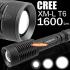 TrustFire Z1 НАЙ-МОЩНИЯТ джобен водоустойчив фенер/прожектор - CREE XM-L T6 LED Zoomable Zoom Torch