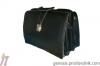 Елегантна мъжка лекарска черна чанта от Естествена Кожа