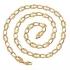 Позлатен ланец унисекс 18 карата злато страхотна изработка (N99)