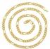 Позлатен синджир унисекс 18 карата злато страхотна изработка -102