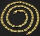 Позлатено нежно дамско колие 18 карата злато (N106)