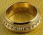 Позлатен пръстен като халка с цирконий 9к (N666)