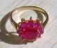 Позлатен дамски пръстен с камъни цвете 9к (нов)