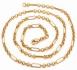 Позлатен синджир унисекс 9 карата злато (N777)