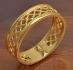 Позлатена халка невероятна изработка 9 карата злато (N358)