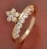 Позлатен пръстен с 13 камъка цирконий 9 карата N2336