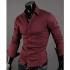 "Мъжка риза - бордо Neckline stylish размер ""L"""