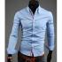 Мъжка риза - светло синя New men's shirt L-XL