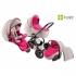 Zippy Sport 410 бебешка количка 3в1 лен/розово
