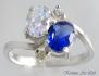 Сребърен пръстен с кристали Сваровски