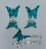 Медальон и обеци *Светло сини пеперуди в полет* със Сваровски кристали