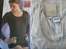 S сива дамска памучна блуза дълъг ръкав дамски блузи