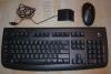 Продавам комплект безжична, оптична мишка, клавиатура и рисийвър Logitech....