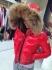 MONCLER червено дамско яке в наличност