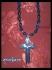 Мъжки стоманен кръст -хематит,лава,ахат-40см.