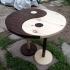 Фън шуи маса за кафе - комплект от две дървени масички Ин Ян - ПРОДАДЕНА