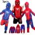 Модерен екип на Spider-Man от 3 части-елек с качулка-маска, блуза и долнище
