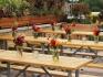 Дървени маси под наем от НОВА Кетъринг, комплект с пейки, подходящи за всяко събитие!...
