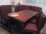 Трапезна пейка в комплект с трапезна маса и три стола