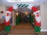 Коледна арка от балони